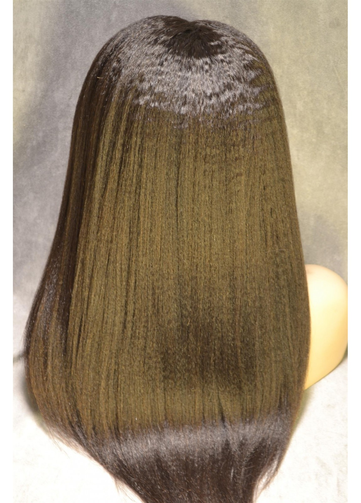 Kinky Straight Glueless Silk Top Full Lace Wigs