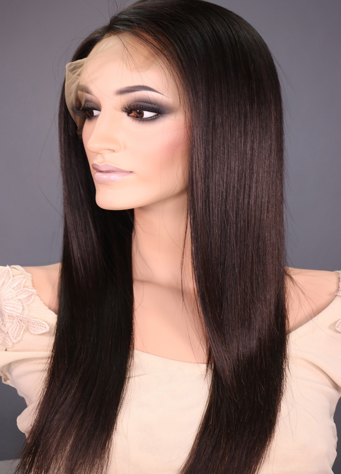 Unprocessed Human Hair Lace Front Wigs