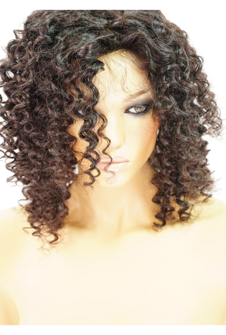 Alicia | Short Curly Human Hair Wigs for African American