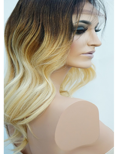 Blonde Ombre Lace Front Wig Human Hair