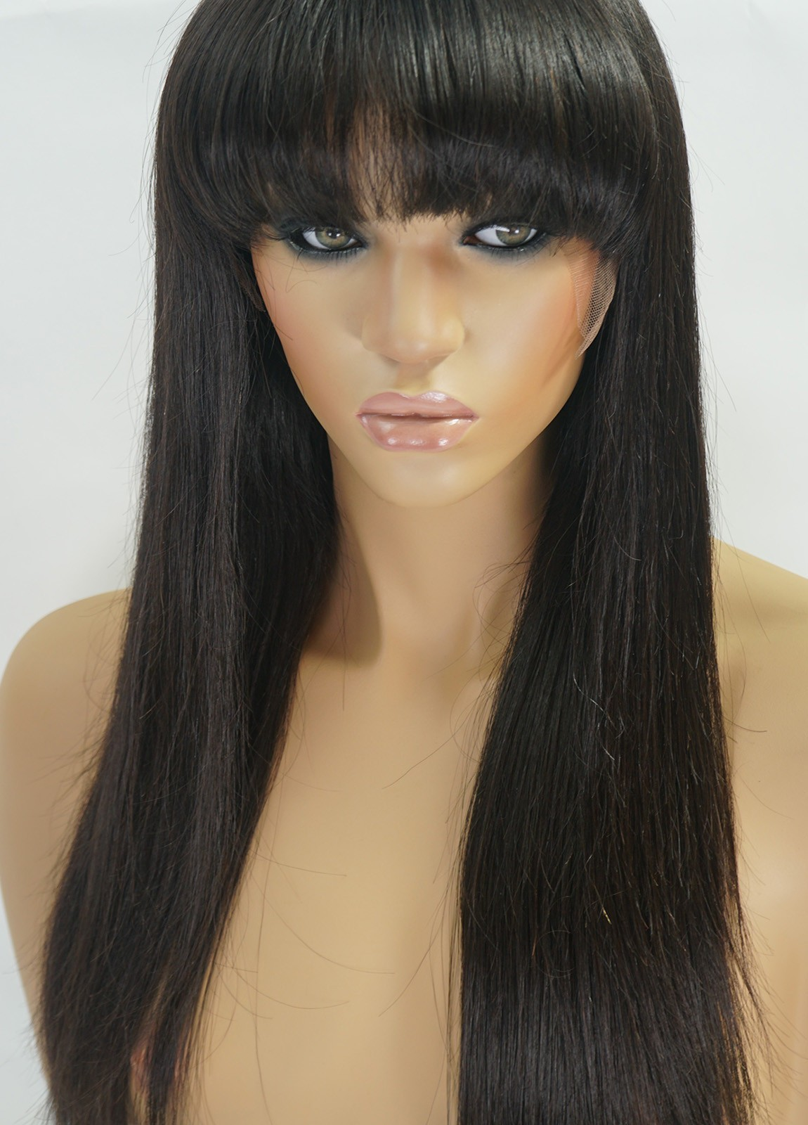 Glueless Full Lace Wigs With Bangs