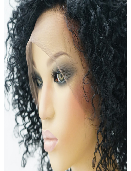 Short Curly Human Hair Lace Front Wigs