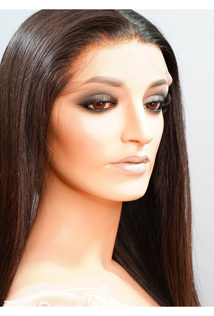 Straight medium length human hair wigs offer a flawless look and quality tresses