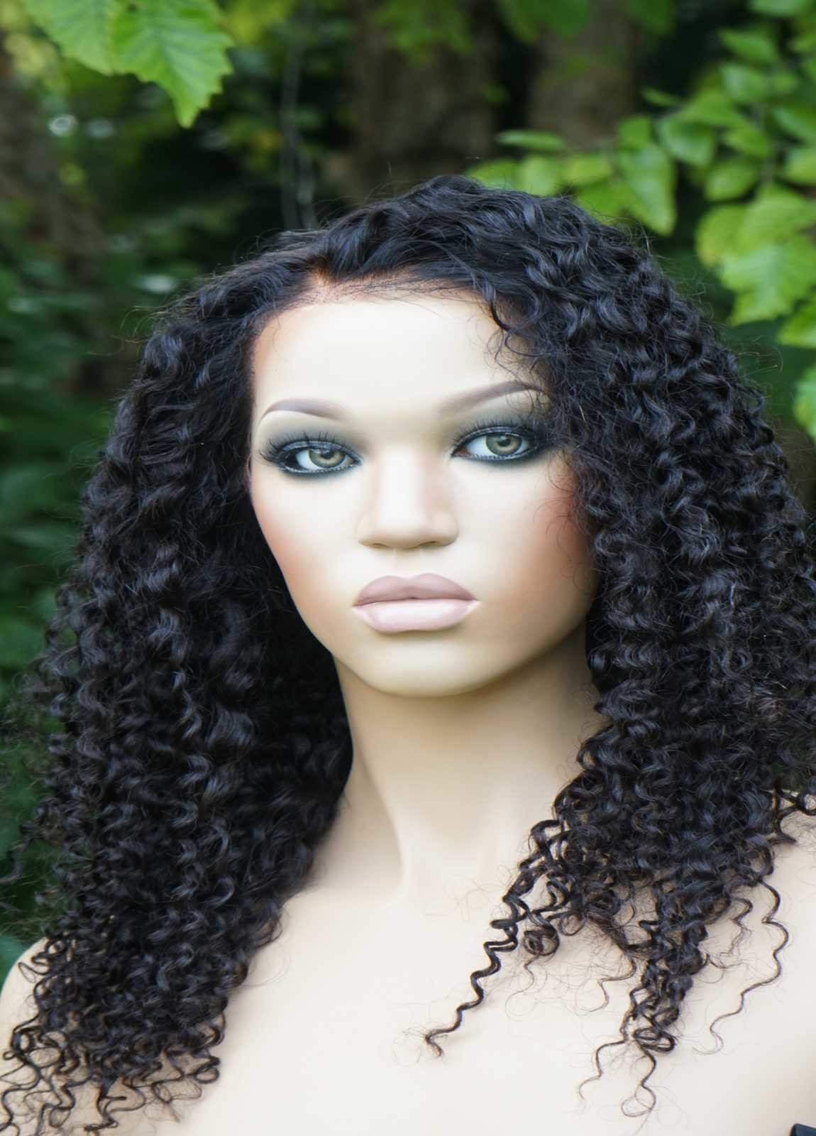 African american curly human hair wigs