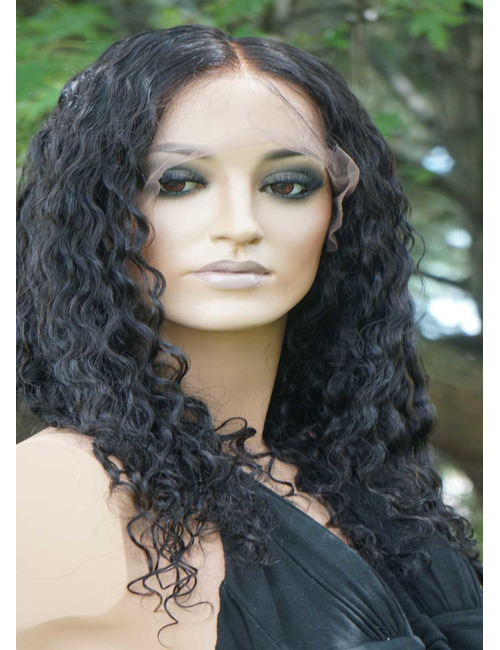 Shoulder length curly human hair wigs