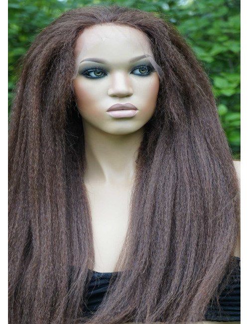 Kinky Straight Glueless Lace Front