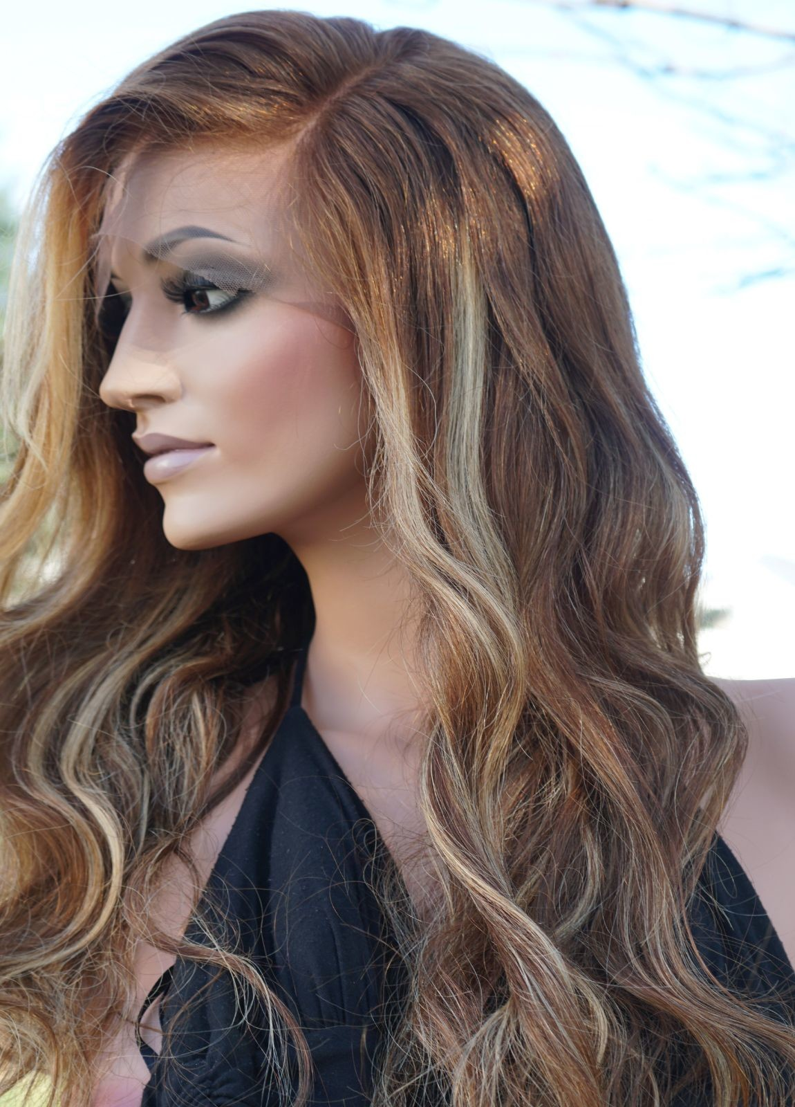 Glueless Human Hair Lace Front Wigs
