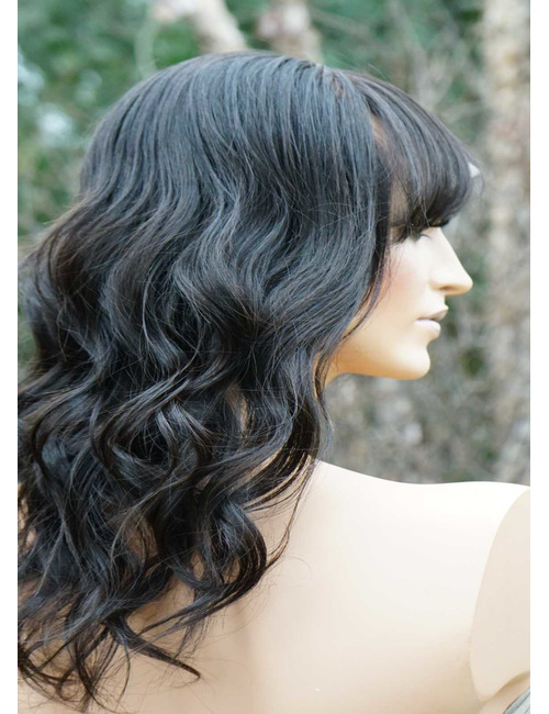 Human Hair Lace Front Wigs with Bangs