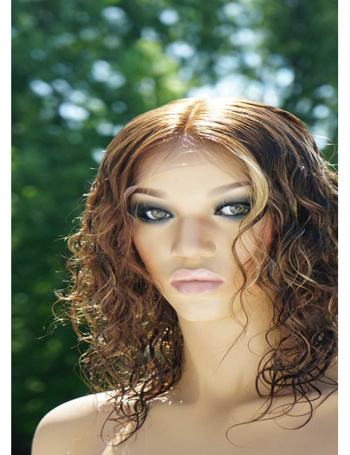 Human Hair Wet and Wavy Lace Front Wigs