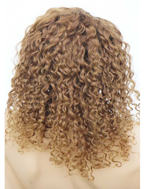 Curly African American Human Hair Wigs