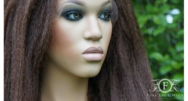 KINKY STRAIGHT HUMAN HAIR WIGS